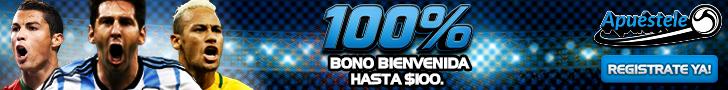 Apuestele.com Bono Bienvenida hasta $100